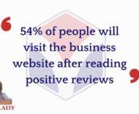 54% visit a business website after reading positive reviews #AskArkLady