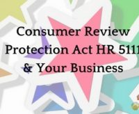 Consumer Review Protection Act HR 5111 #AskArkLady